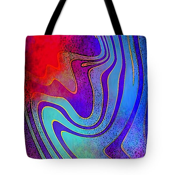 Fine Art Painting Original Digital Abstract Warp 3 Triptych A Tote Bag