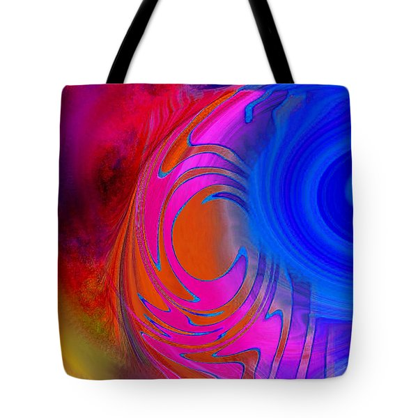 Fine Art Painting Original Digital Abstract Warp 3 Triptych B Tote Bag