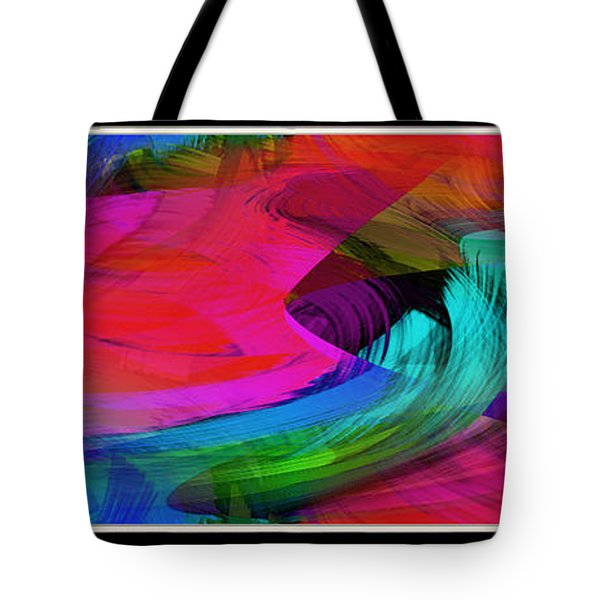 Fine Art Painting Original Digital Abstract Warp10a Triptych Tote Bag
