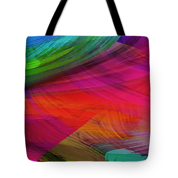 Fine Art Painting Original Digital Abstract Warp10a Triptych I Tote Bag
