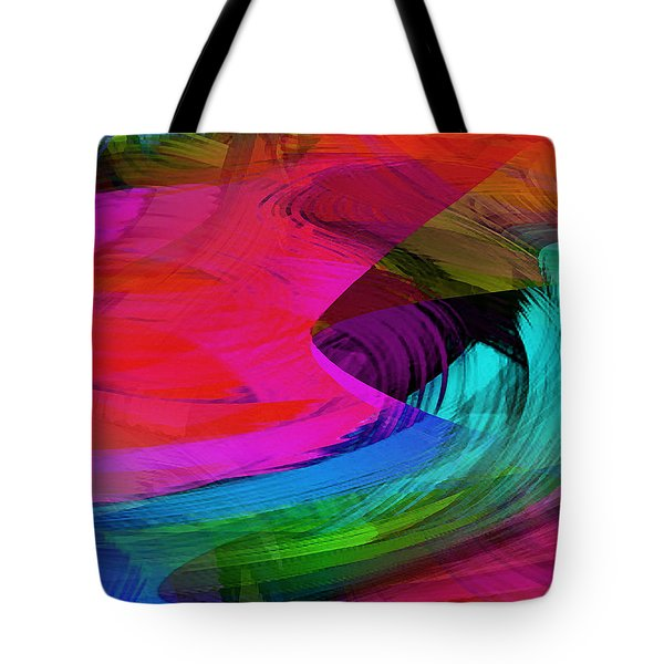 Fine Art Painting Original Digital Abstract Warp10a Triptych II Tote Bag