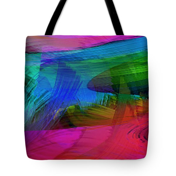 Fine Art Painting Original Digital Abstract Warp10a Triptych IIi Tote Bag