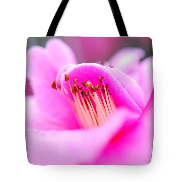 Fine Art- Pink Camellia Tote Bag