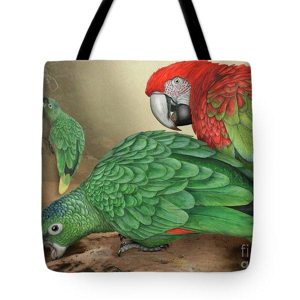 Mealy Amazon Parrot-amazona Farinosa-harinosa Surena-green-winged Macaw-ara Chloroptera-guacamayo Tote Bag
