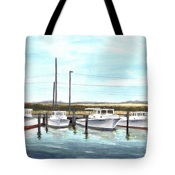 Fine Art Workboats Kent Island Chesapeak Maryland Original Oil Painting Tote Bag