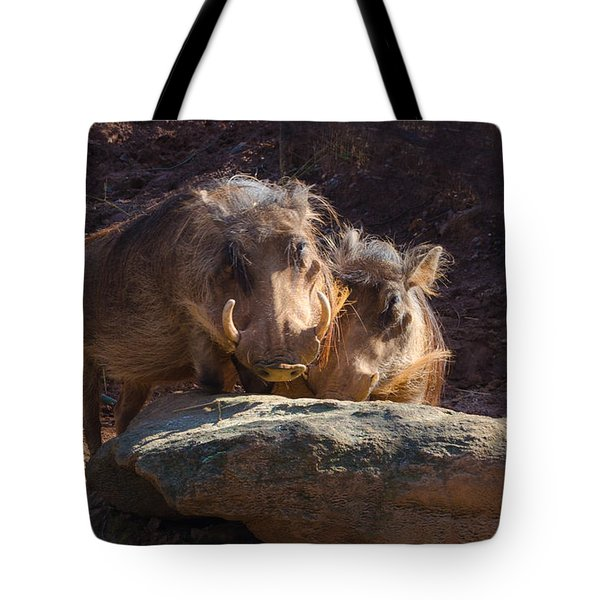 Fine Looking Couple Tote Bag by Donna Brown