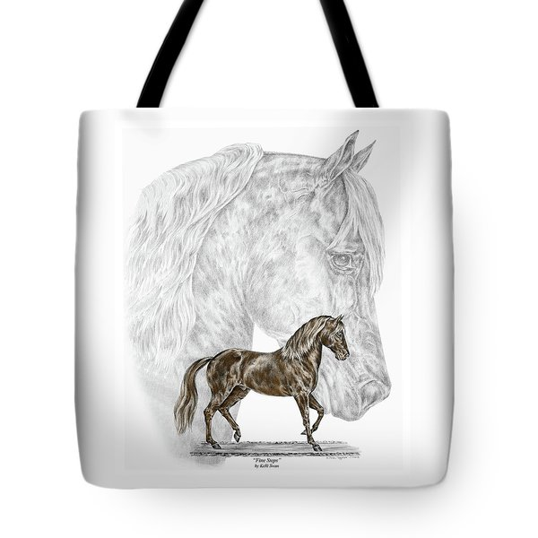 Fine Steps - Paso Fino Horse Print Color Tinted Tote Bag