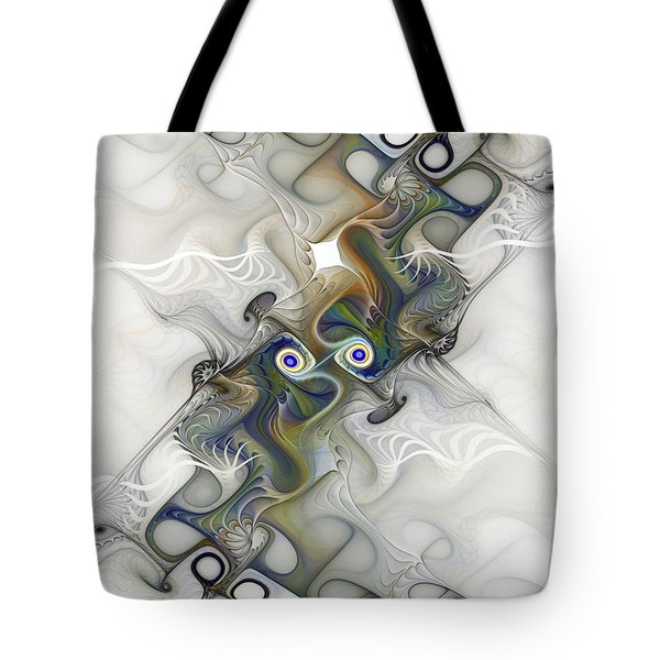 Tote Bag featuring the digital art Fine Traces by Karin Kuhlmann