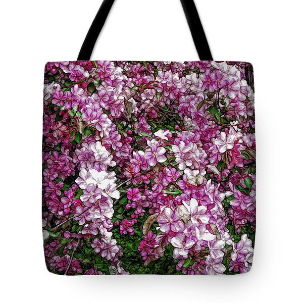 Tote Bag featuring the photograph Fine Wine Cafe Beautiful Blossoms by Aimee L Maher Photography and Art Visit ALMGallerydotcom