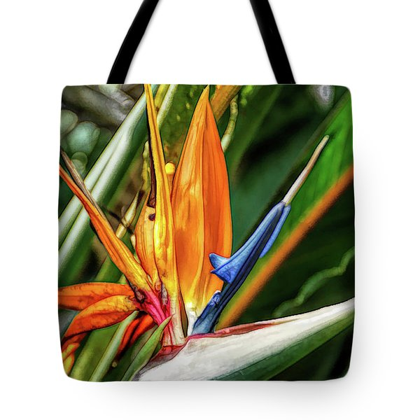 Tote Bag featuring the photograph Fine Wine Cafe Bird Of Paradise by Aimee L Maher Photography and Art Visit ALMGallerydotcom