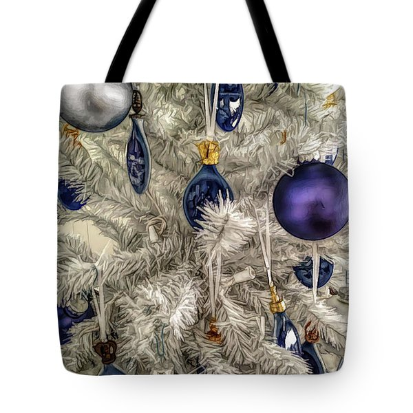 Tote Bag featuring the photograph Fine Wine Cafe Christmas Tree Ornaments by Aimee L Maher Photography and Art Visit ALMGallerydotcom