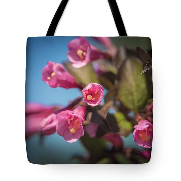 Tote Bag featuring the photograph Fine Wine Weigela by William Lee