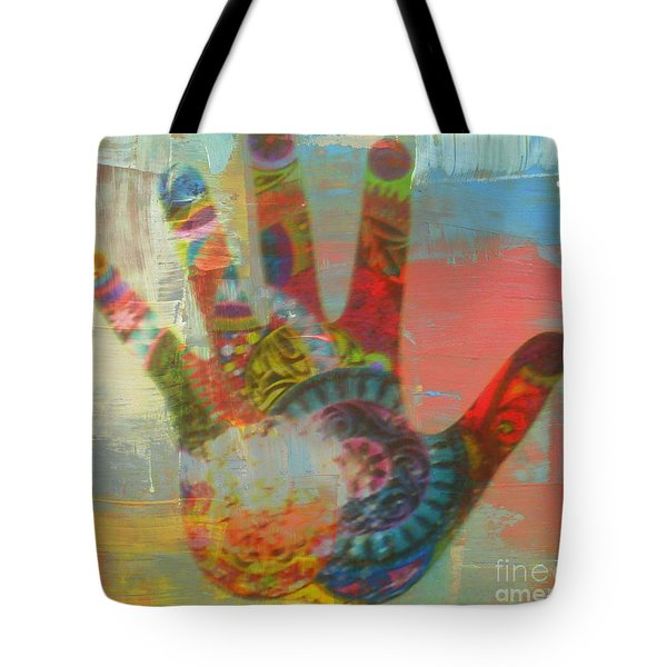 Finger Paint Tote Bag by Kelly Awad