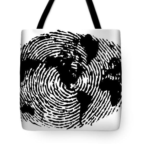 fingerprint 20X30 Tote Bag