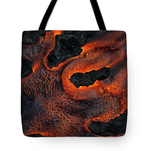 Fingers Of Lava Tote Bag
