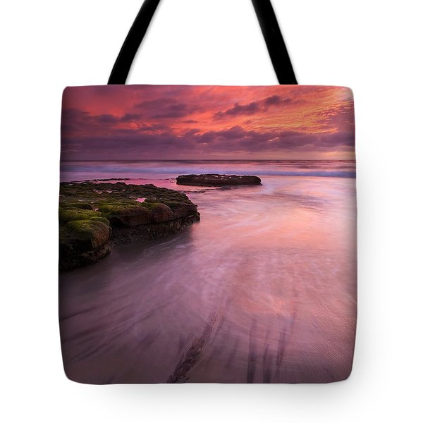 Fingers Of The Tide Tote Bag by Mike  Dawson