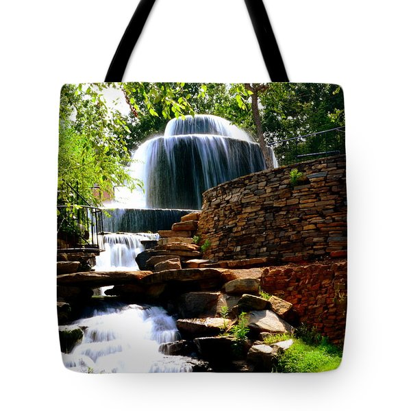 Tote Bag featuring the photograph Finlay Park Columbia Sc Summertime by Lisa Wooten