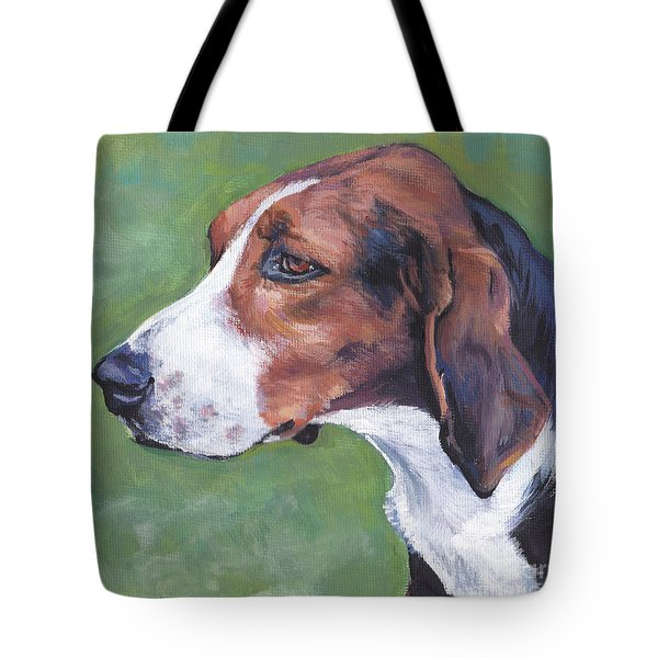 Tote Bag featuring the painting Finnish Hound by Lee Ann Shepard