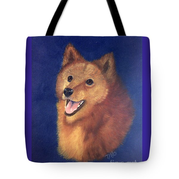 Tote Bag featuring the painting Finnish Spitz by Terri Mills