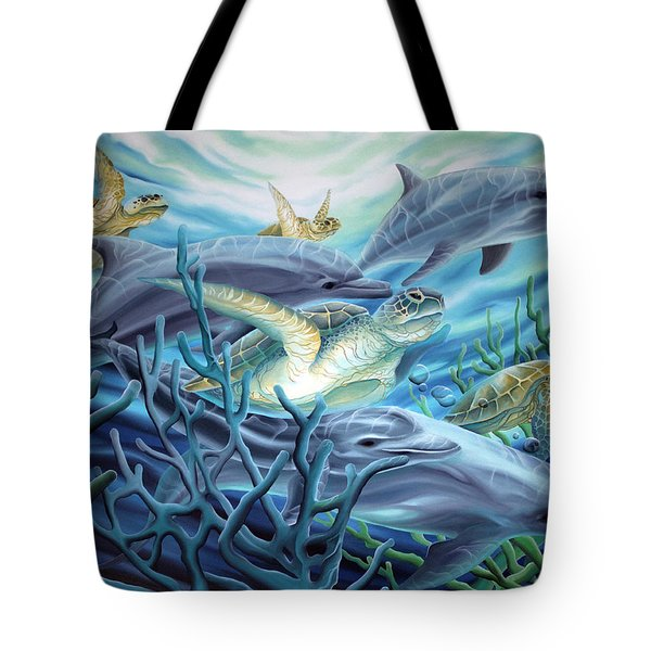 Fins And Flippers Tote Bag