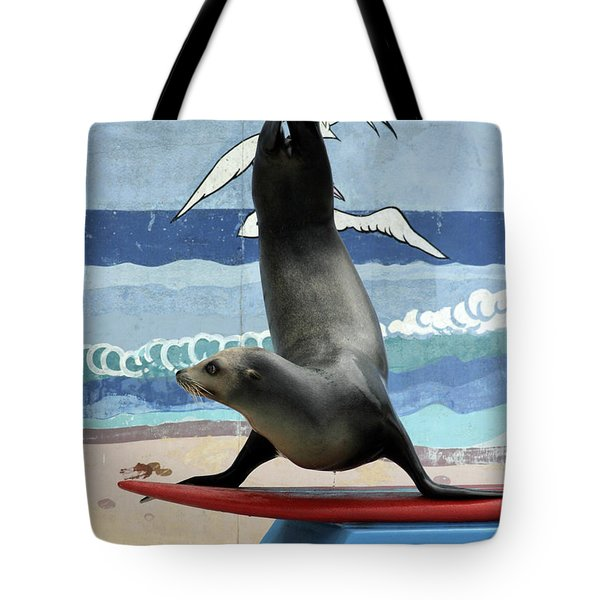 Fins Up Tote Bag