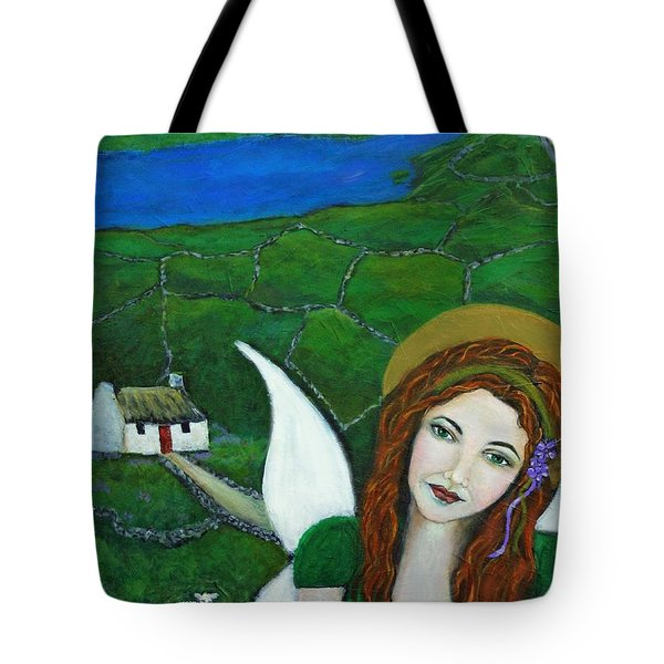 Fiona An Irish Earthangel Tote Bag by The Art With A Heart By Charlotte Phillips