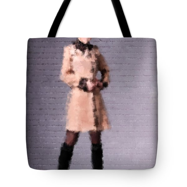 Tote Bag featuring the digital art Fiona by Nancy Levan