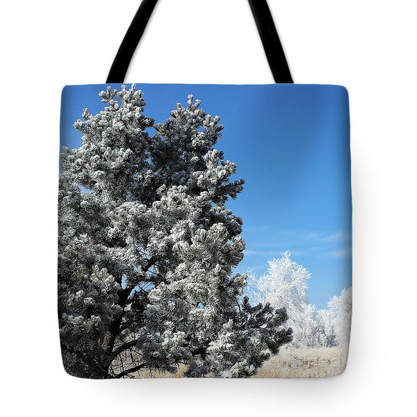 Fir Full Of Ice Tote Bag