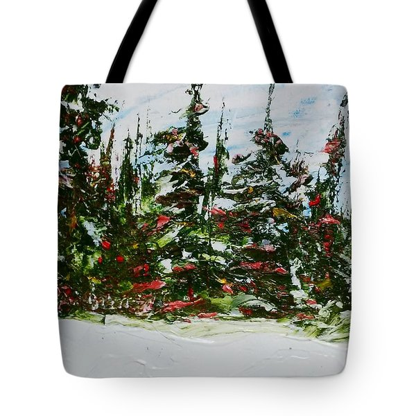 Fir Trees - Spring Thaw Tote Bag