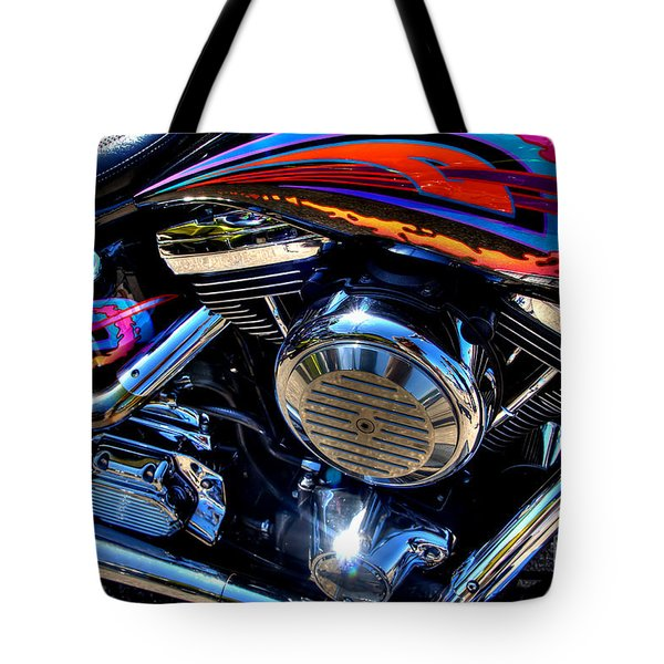 Tote Bag featuring the photograph Fire by Adrian LaRoque