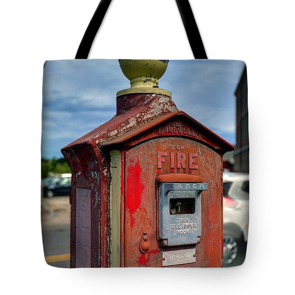 Fire Alarm Box 375 Tote Bag
