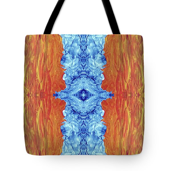 Fire And Ice - Digital 2 Tote Bag by Otto Rapp