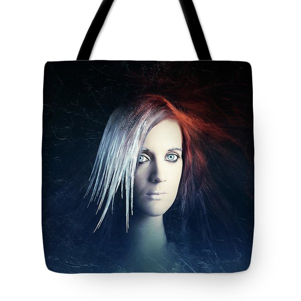 Fire And Ice Portrait Tote Bag