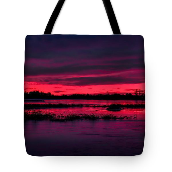 Fire And Ice Sunrise Tote Bag