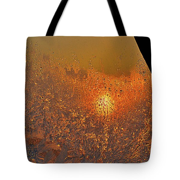 Tote Bag featuring the photograph Fire And Ice by Susan Capuano