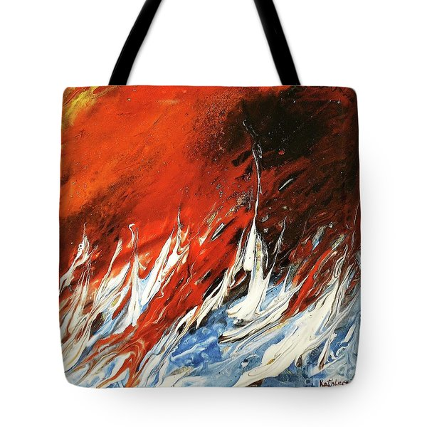 Fire And Lava Tote Bag