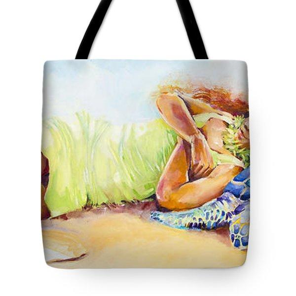 Fire And Water- Pele And The Turtle Tote Bag