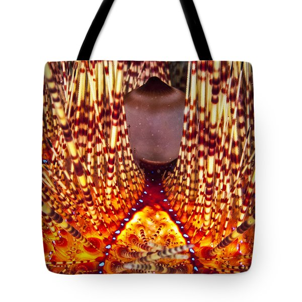 Fire Beneath The Waves Tote Bag