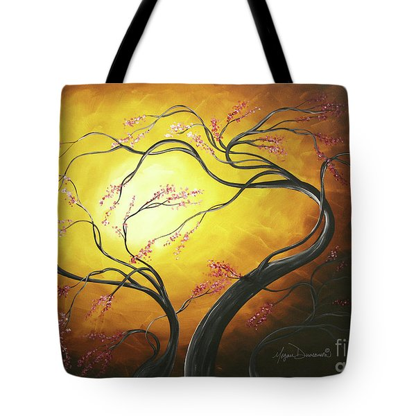 Fire Blossoms Tote Bag