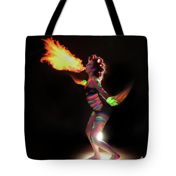 Fire Blowin Tote Bag by Andrew Nourse