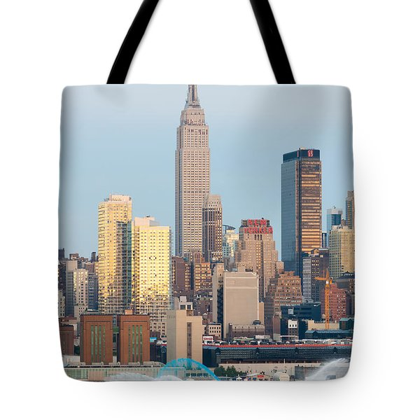 Fire Boat And Manhattan Skyline IIi  Tote Bag by Clarence Holmes
