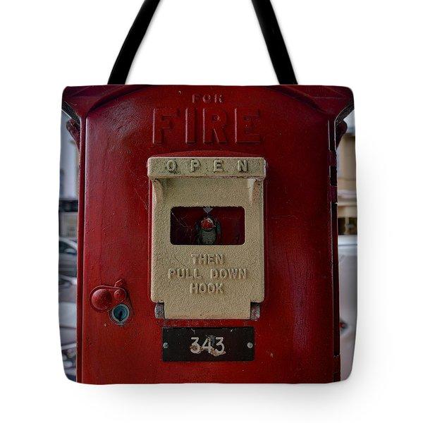 Fire Box 342 Tote Bag