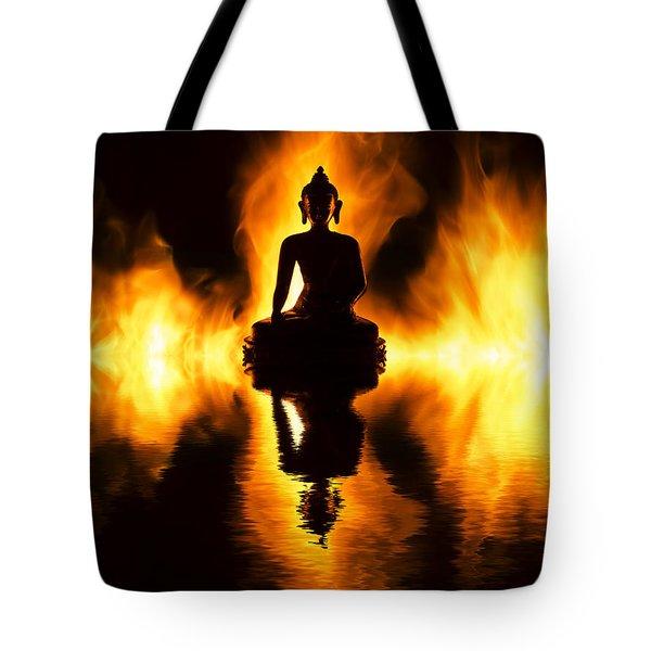 Fire Buddha Tote Bag