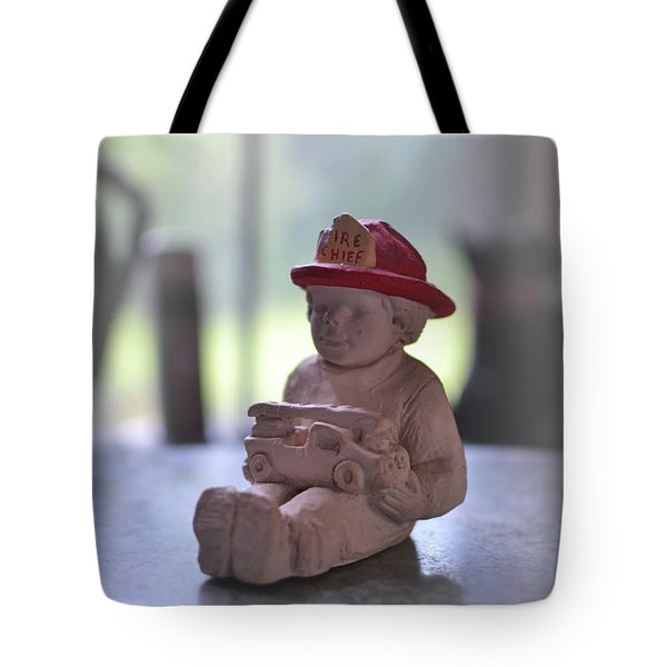 Fire Chief Molded Stone Tote Bag