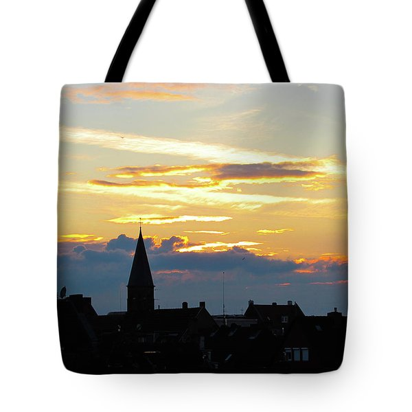 Fire Clouds Tote Bag by Cesar Vieira