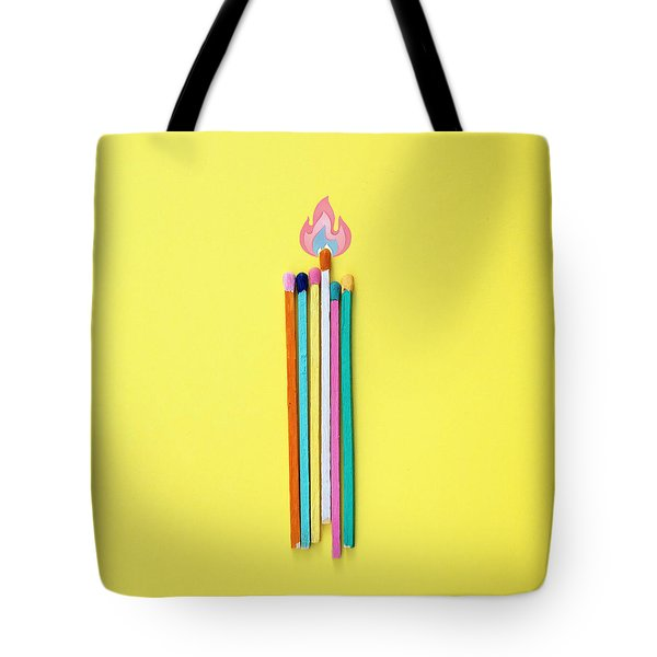 Fire Colors Tote Bag