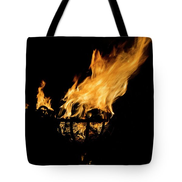 Fire Cressets Three Tote Bag