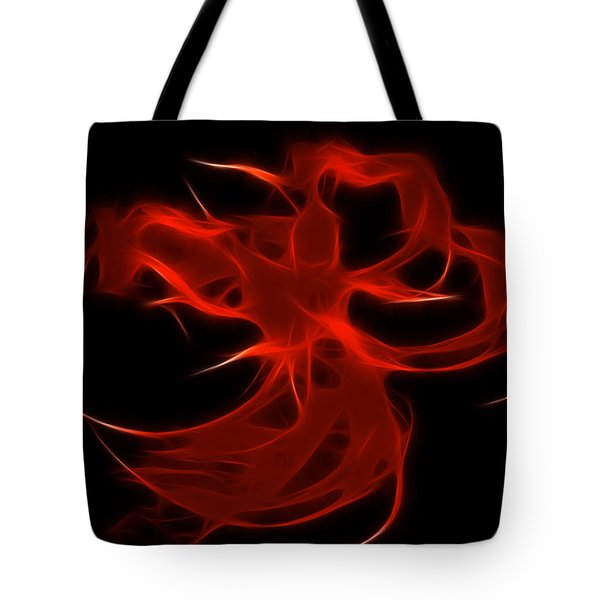 Tote Bag featuring the digital art Fire Dancer by Holly Ethan