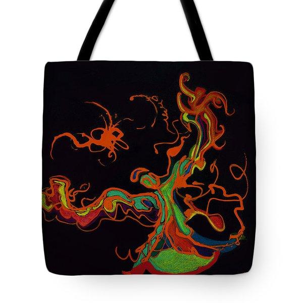 Fire Dancer Tote Bag