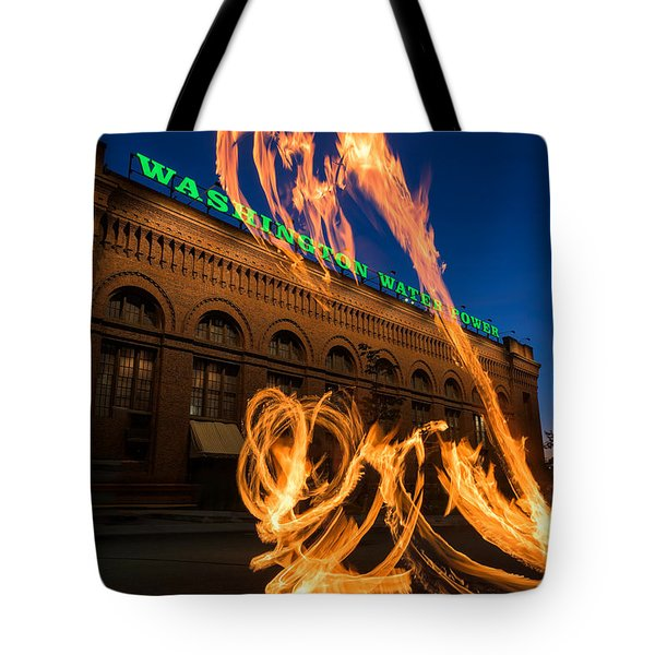 Fire Dancers In Spokane W A Tote Bag